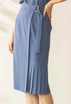 PINKY&DIANNE サイドプリーツラップ風セットアップスカート