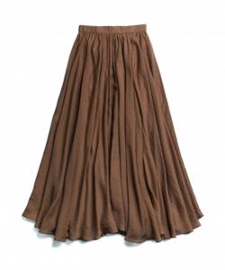 RIELLE riche Airy Flare Maxi Skirt