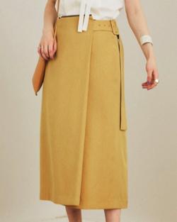 PUBLIC TOKYO ウォッシャブルリネンライクラップスカート