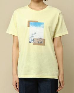 ikka プリントTシャツ