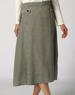 Doubleface tokyo デシンスカーフ柄スカート