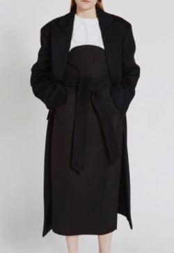 RECTO tie-waist wool coat