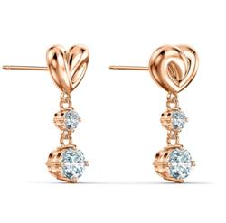 SWAROVSKI (スワロフスキー) Lifelong heart earrings