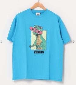 VISION STREET WEAR オリジナルデザイン フロントプリント 半袖Tシャツ