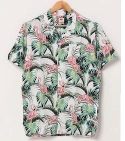 Levi's キューバシャツ FLAMINGO LEAF PRINT CLOUD D
