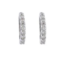 festaria bijou SOPHIA K18ホワイトゴールド ダイヤモンド イヤリング