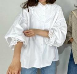 【スーパー Jチャンネル】大木優紀アナ衣装白いブリルブラウス