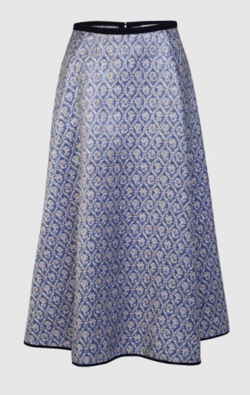 ODEEH (オデイ)Brocade Skirt Periwinkle Blue