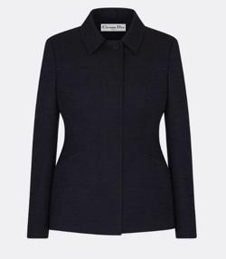 Dior (ディオール)ブルー コットン シャンタン ジャケット