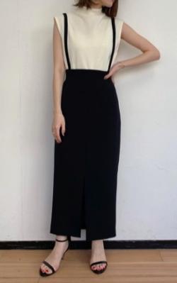 Loungedress(ラウンジドレス)サスペンダー2wayスカート