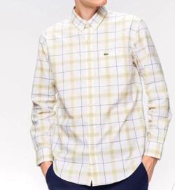 LACOSTE(ラコステ)レギュラーフィット コットンチェックシャツ