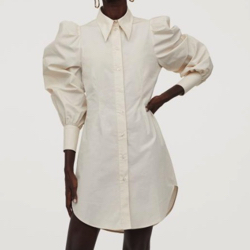 H&M パフスリーブシャツドレス