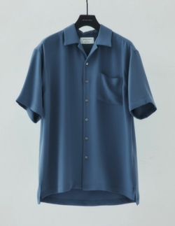 UNITED TOKYO DRYツイルオープンカラーシャツ/ビッグシルエット