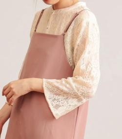 natural couture フレアスリーブレースブラウス