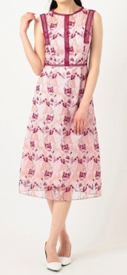 【TOCCA LAVENDER】Wavy Embroidery ドレス/トッカ(TOCCA)