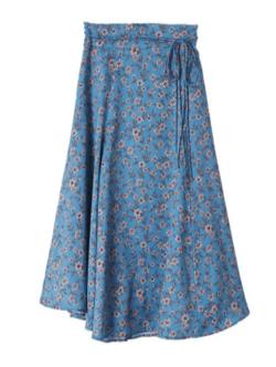 31 Sons de mode フラワープリントサテンスカート