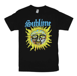 Sublime Mens T-Shirt - Full Color 40oz to Freedom Sun Image