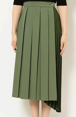 MURUA コントラストプリーツスカート