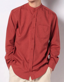 Melan Cleuge エステルトロバンドカラーシャツ