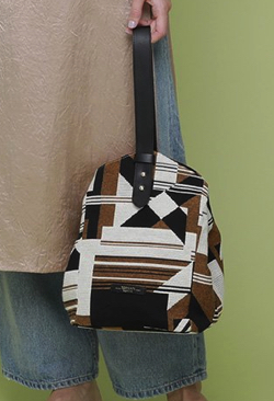 TOPKAPI(トプカピ)幾何柄ジャガード ワンハンドルトートバッグ