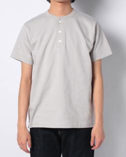 Healthknit マックスウェイトヘンリーネック半袖Tシャツ