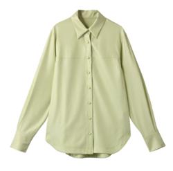 MAISON SPECIAL レザーライクオーバーシャツ