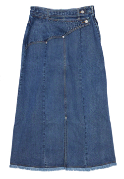 AMERI WESTERN FLAP DENIM SKIRT