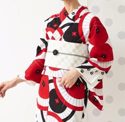 ふりふ 半巾帯「いろいろ市松」