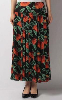 LANVIN COLLECTION フラワープリントプリーツスカート