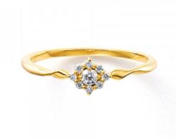 BLOOM K18 イエローゴールド ダイヤモンド リング