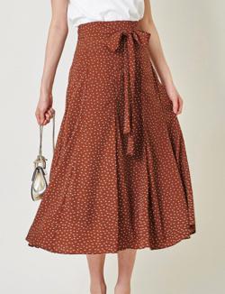 tocco closet ドット柄のリボン付きスカート