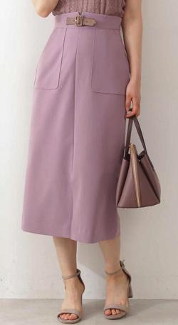 PROPORTION BODY DRESSING フロントベルトタイトスカート