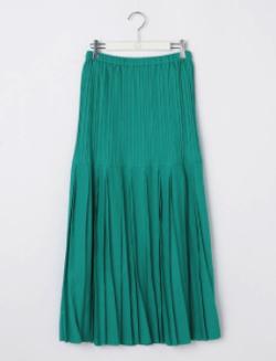 NOLLEY'S シャンブレーツプリーツスカート