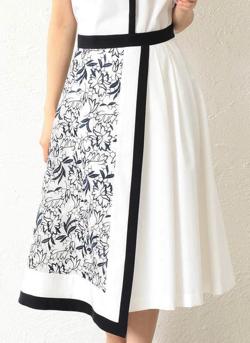 LOVELESS エンブロイダリーレースコンビスカート