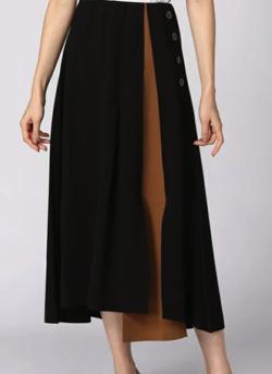 aquagarage バイカラーヘムラインスカート