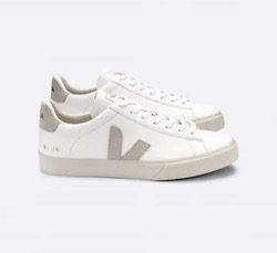 VEJA  Campo Leather Extra White Natural Suede