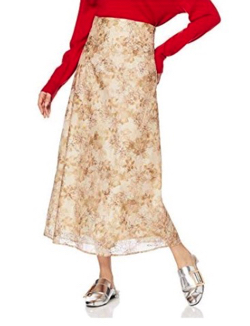 Lily Brown ぼかし花柄刺繍スカート
