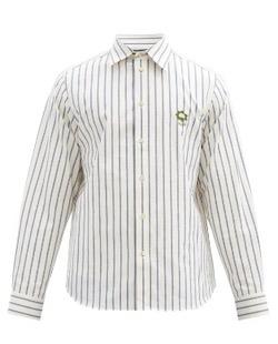 Gucci (グッチ)ストライプコットンシャツ