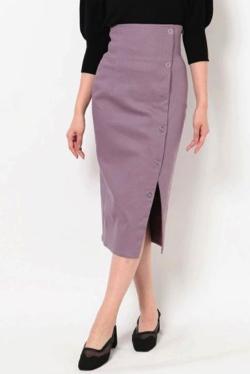 MURUA シルバーボタンタイトスカート
