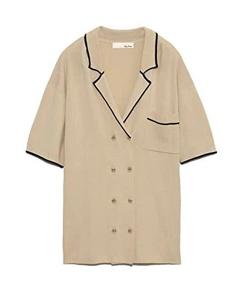 Lily Brown (リリーブラウン)ラインニットシャツ