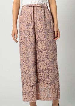 MEW'S REFINED CLOTHES(ミューズ リファインド クローズ)レースワイドパンツ