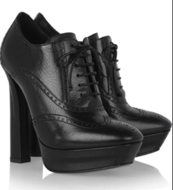 BROGUE-STYLE Leather Ankle Boots