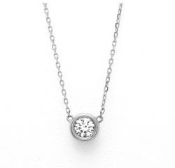 BLOOM プラチナ ダイヤモンド ネックレス(0.2ct)<鑑別カード/スコープ付>