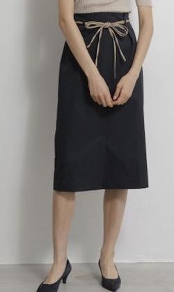 TONAL  ベルト付ハイウェストタイトスカート