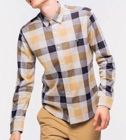 LACOSTE(ラコステ)リネンコットンジャガードチェックシャツ