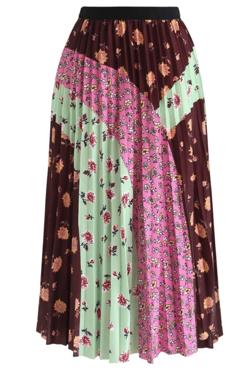 Chicwish 花柄カラープリーツスカート