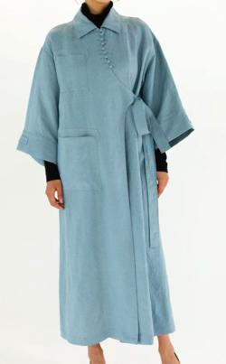 RELDI ASYMMETRY WRAP DRESS