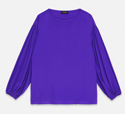 ottod'Ame BLOUSE WITH WIDE NECKLINE