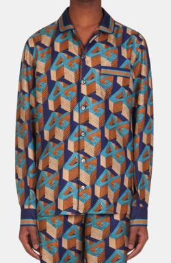 Dolce & Gabbana DGオールオーバープリント パジャマシャツ