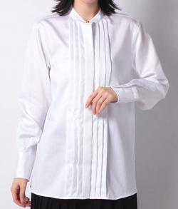 OLD ENGLAND コットンヘリンボーンシャツ